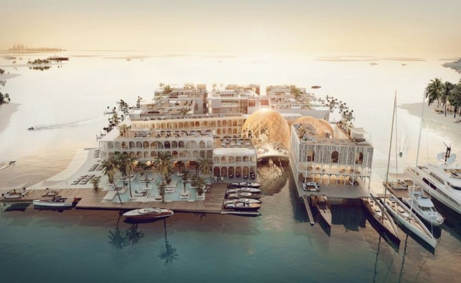 """""""Арабската Венеция"""": първият в света 5-звезден плаващ курорт"""