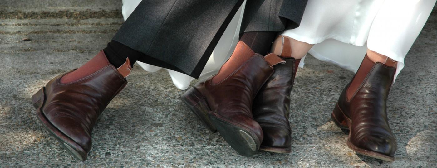 обувки булка младоженец сватба