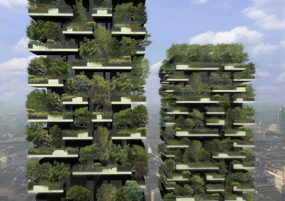 Горски небостъргачи изпълват Милано със зеленина