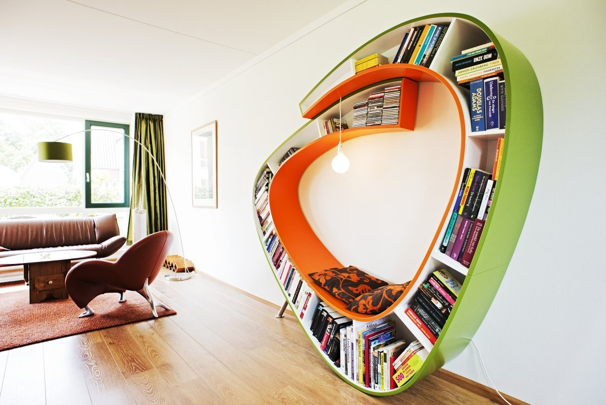 Bookcase Sit And Relax Surrounded By Your Favorite Books - Bookworm bookcase sit and relax surrounding by your favorite books by atelier 010