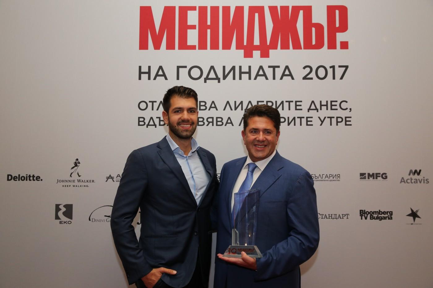 """Арх. Пламен Мирянов е носителят на десетата титла """"Мениджър на годината"""" за 2017г."""