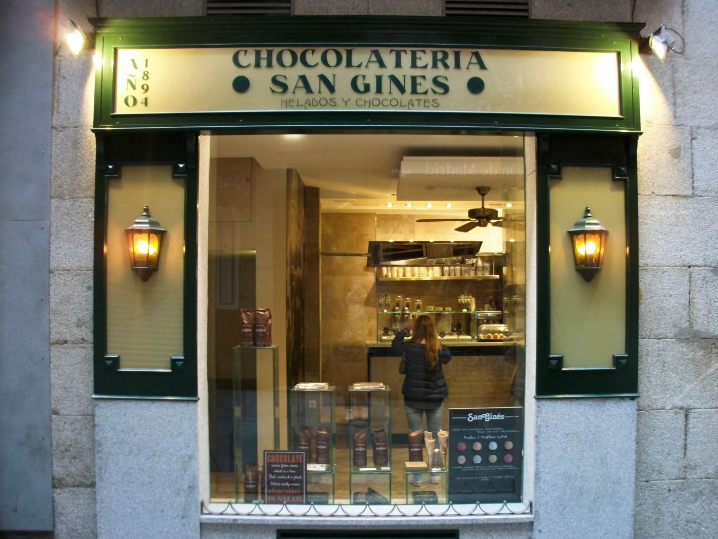 шоколадов магазин Сан Гинес, Мадрид