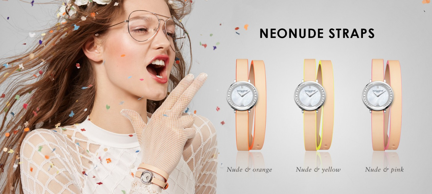 Vibrant summer color Neonude Straps by Baume&Mercier