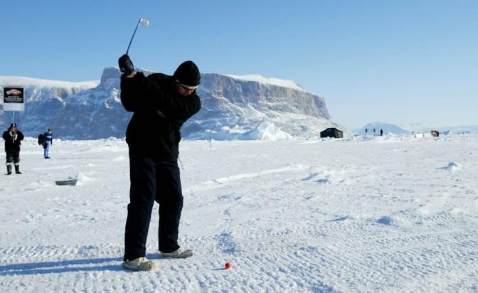 На минус 50 градуса голфът става екстремен спорт