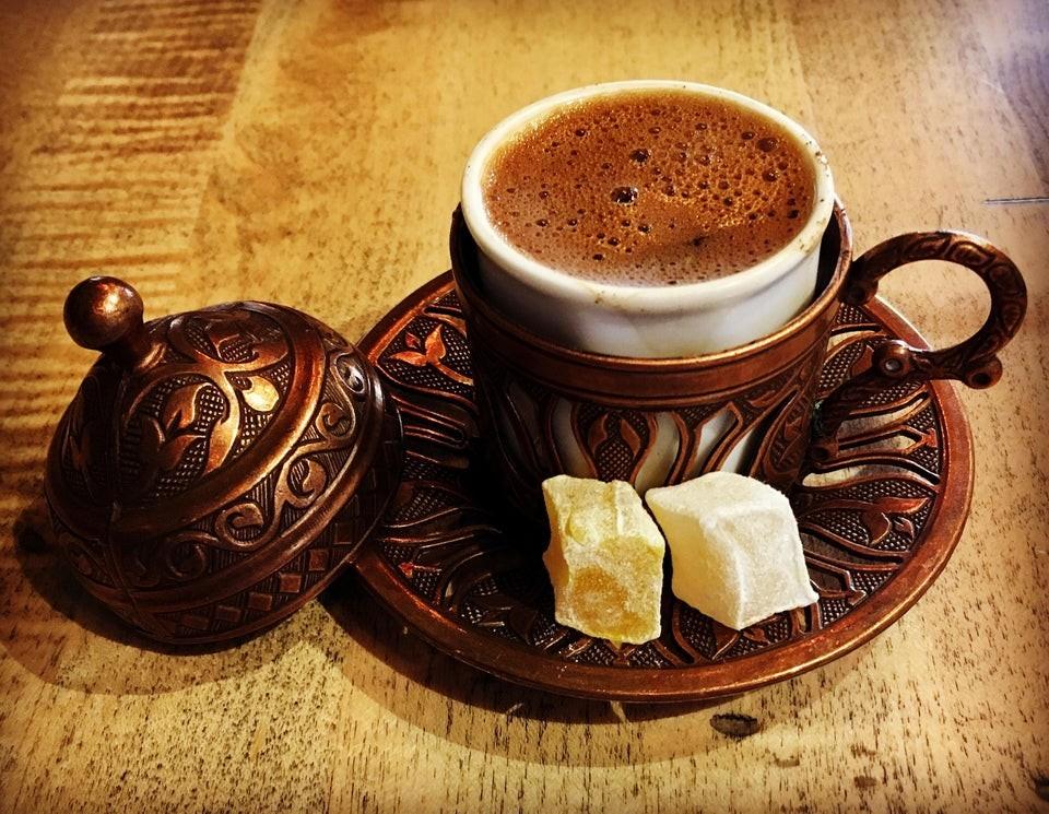 джезве турско капучино кафе зърна чаша