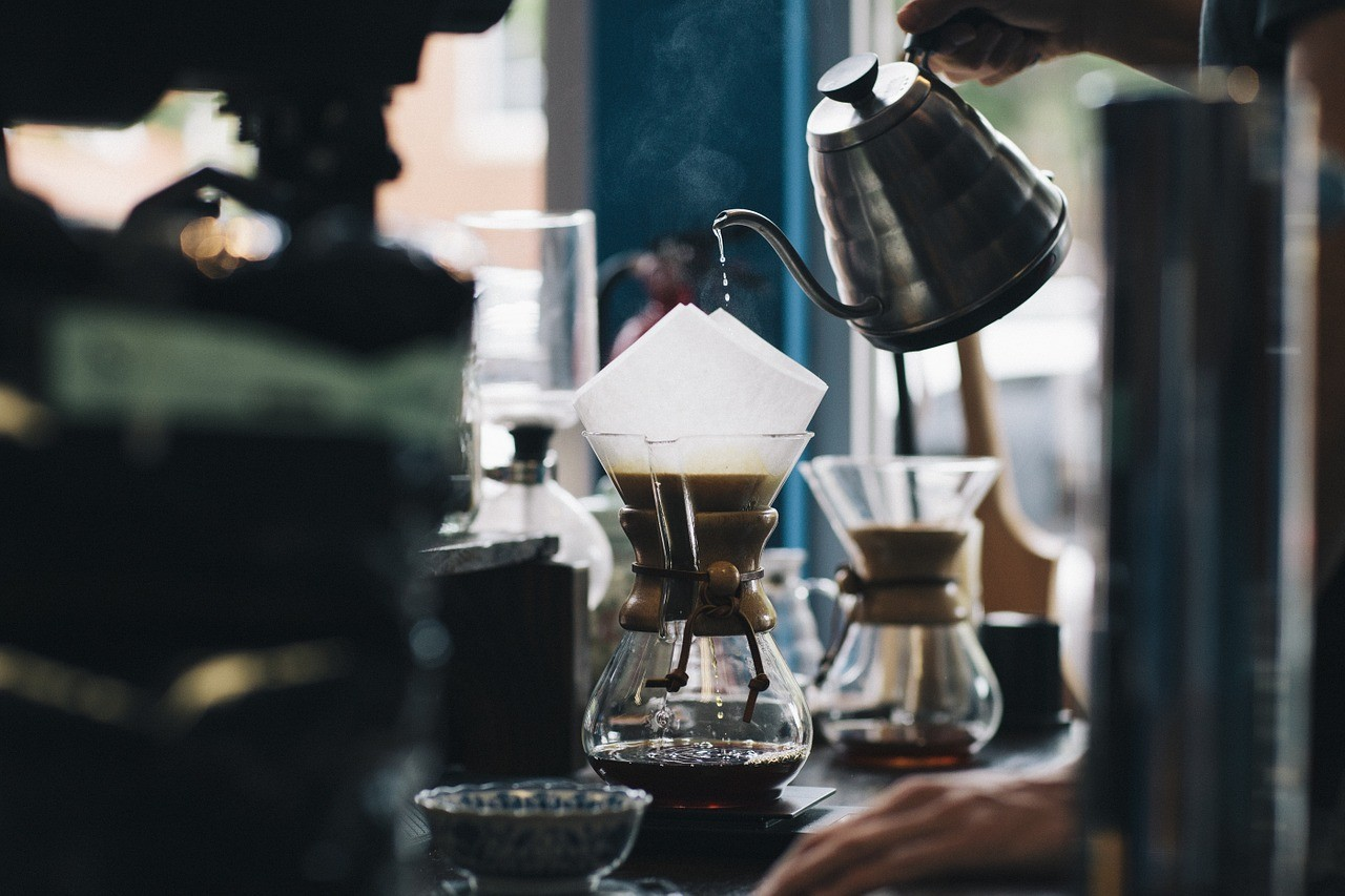 кафе зърна чаша